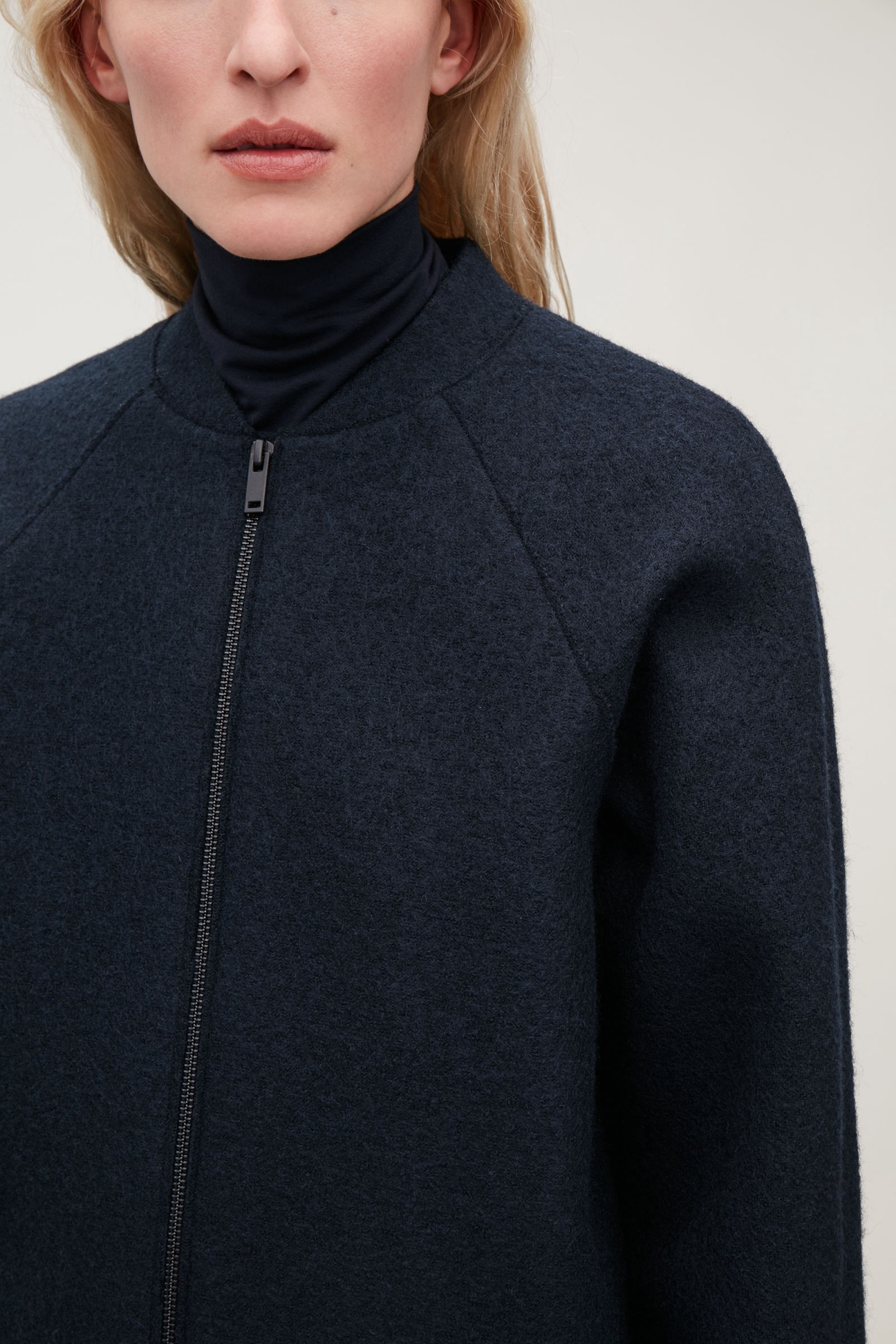 cd83e2460855 Cos Boiled-Wool Cocoon Coat - Navy 2 | Products | Boiled wool coat ...