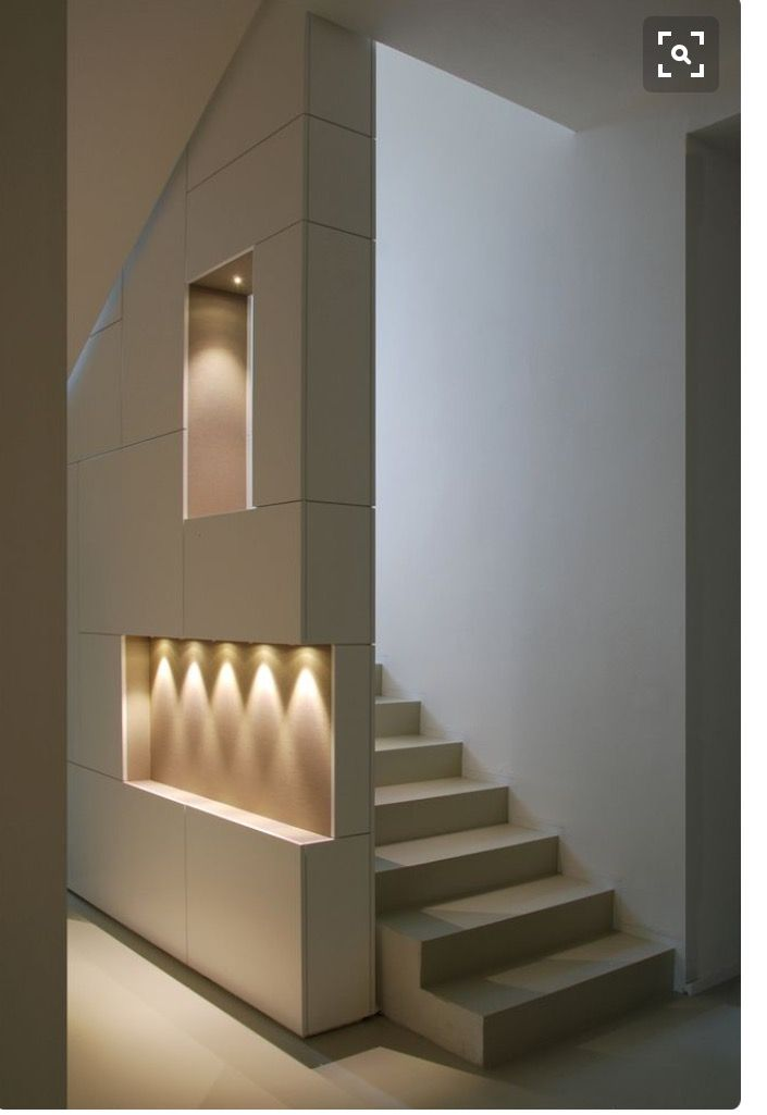 Wall With Niches Stairs Design Staircase Design Interior Stairs