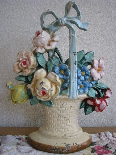 Flower basket doorstop by yy_sky