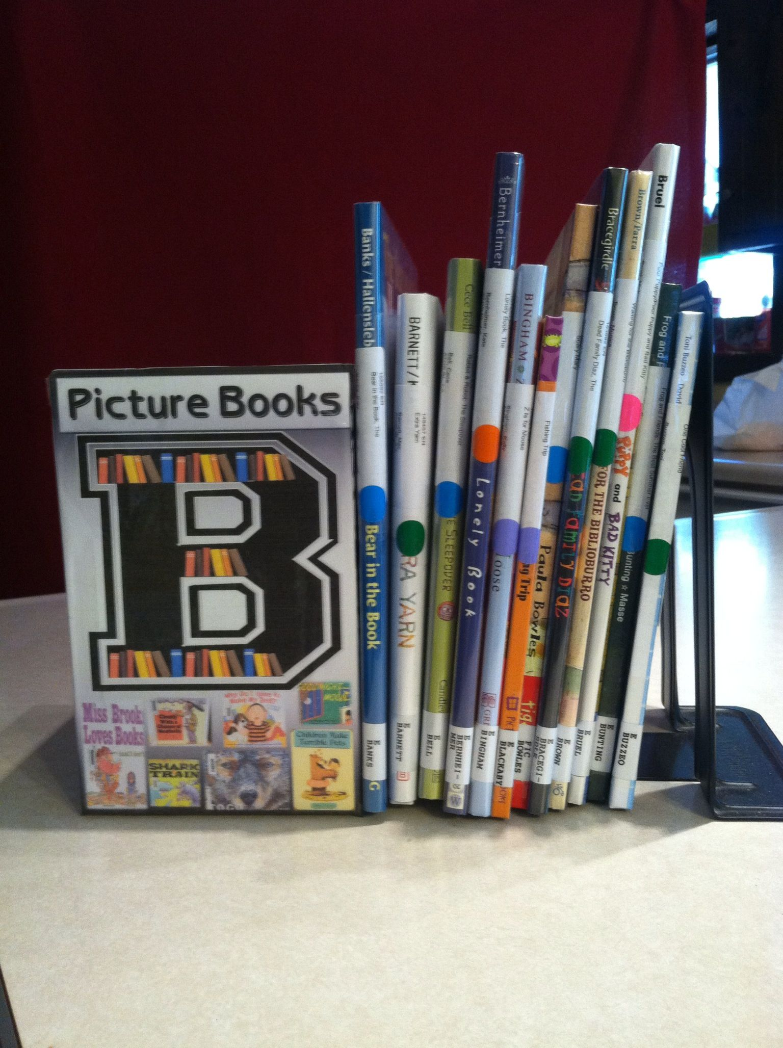 a children s library should be colorful shelf marker and colored