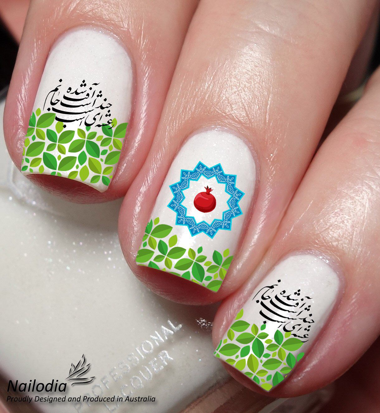 Persian Yalda Night nail art decals