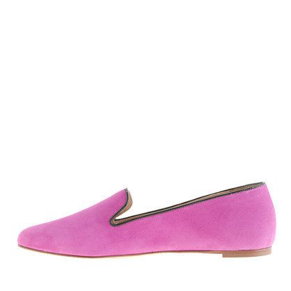 Pinkish Purple Suede Loafers by J.Crew #Shoes