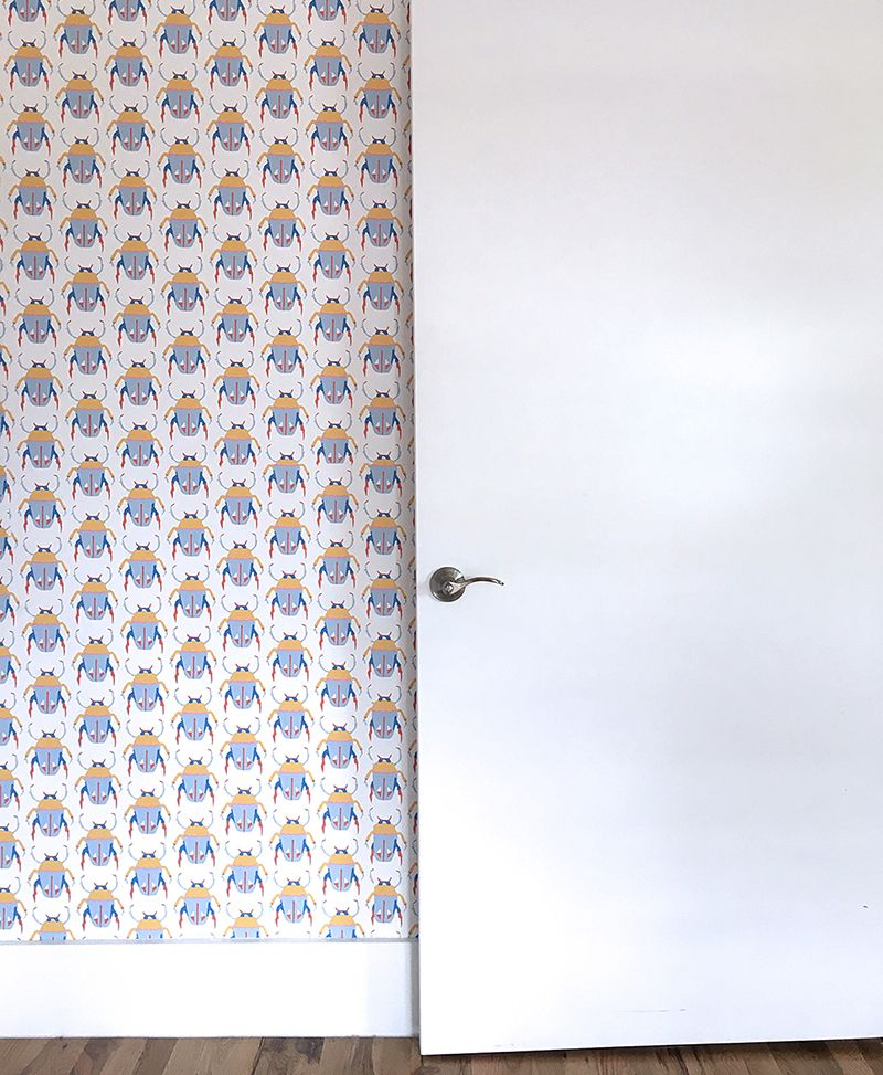 Goodbye white walls. Removable wallpaper for the renter