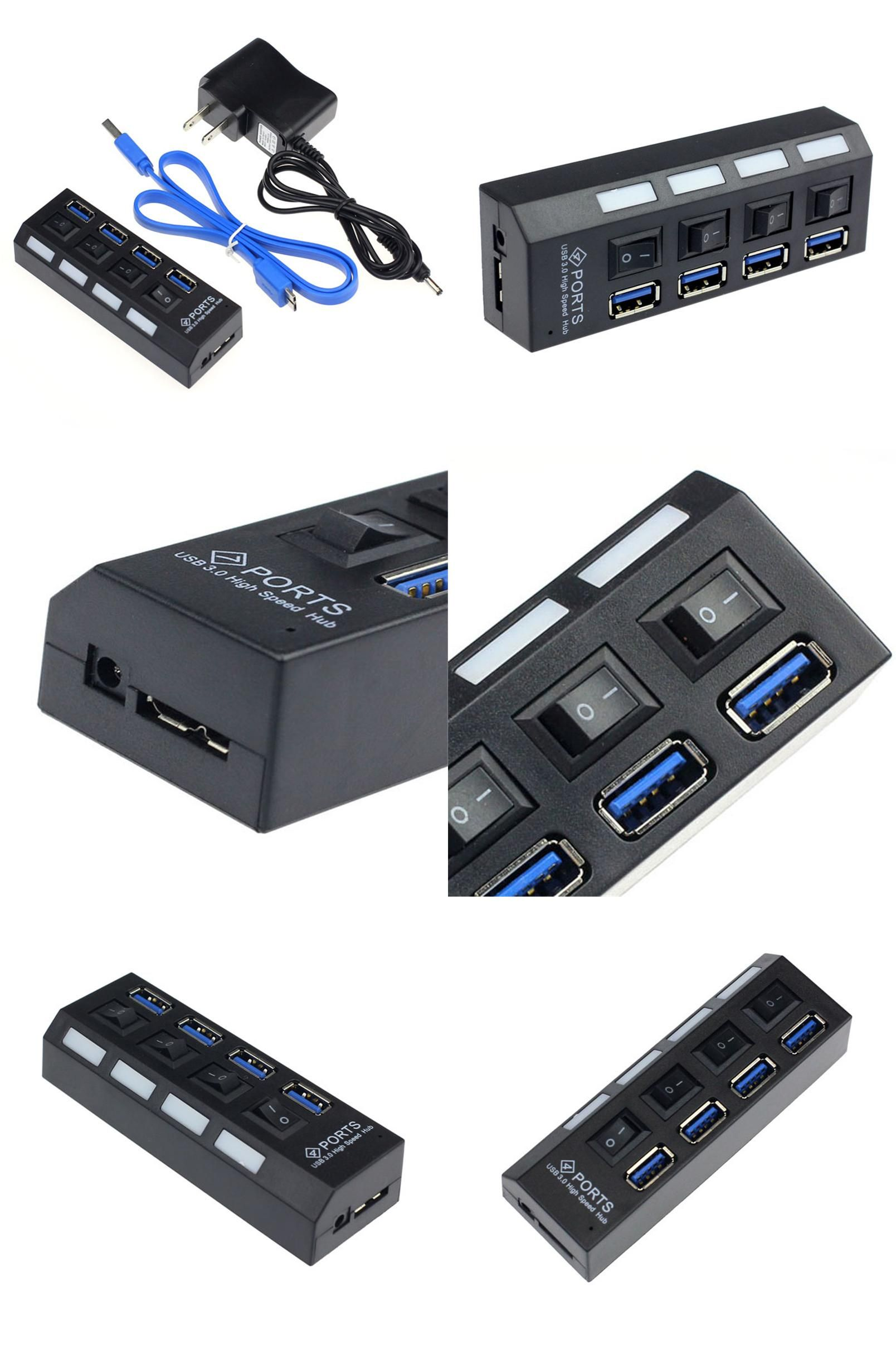 Visit To Buy Reliable 4 Ports Usb 3 0 Hub With On Off Switch
