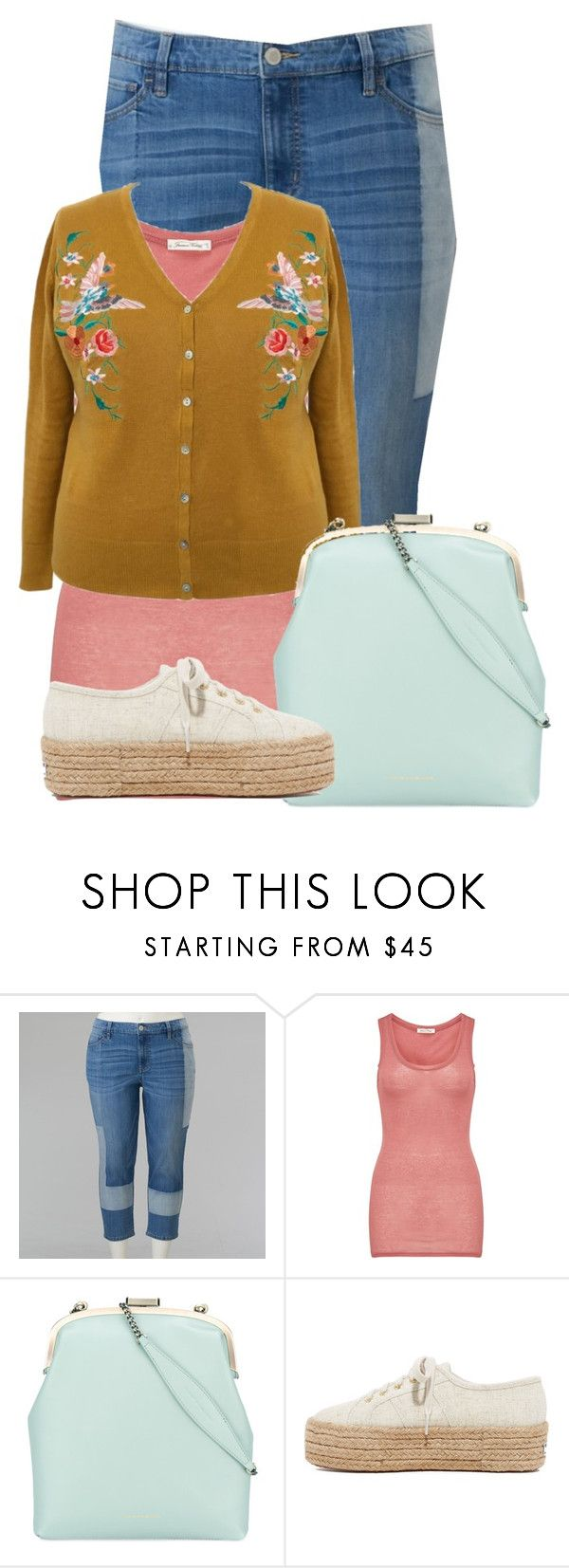 """""""Untitled #23570"""" by nanette-253 ❤ liked on Polyvore featuring Simply Vera, American Vintage, Tammy & Benjamin and Superga"""