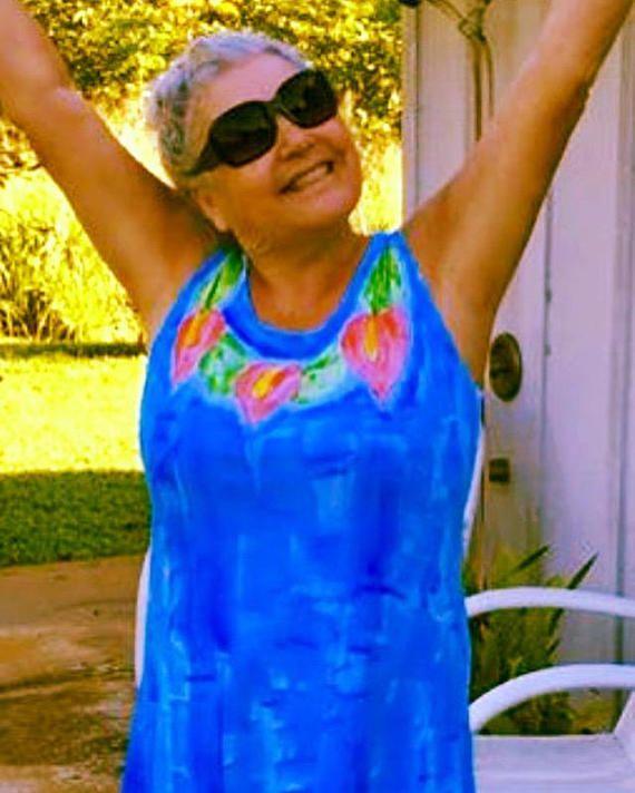 c361ad1b97 Gift for mom woman fashion hand painted dress plus size hawaii dress resort  wear