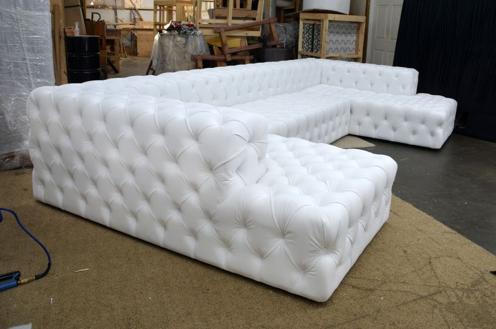 Tufted U Sectional Deep Tufted Sectional White U Sectional Sofa
