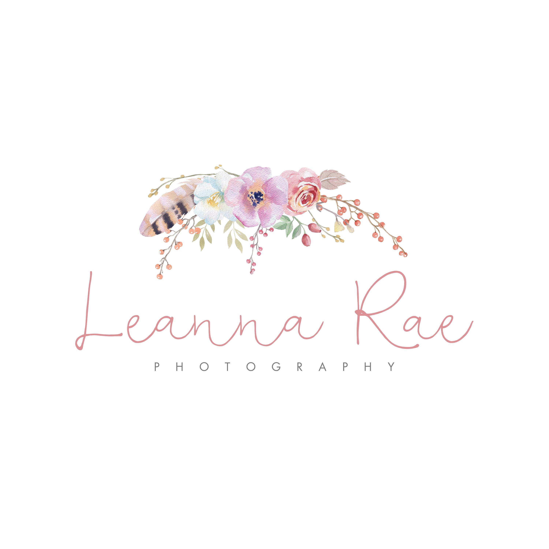 Logo Design, Watercolor Flowers, Photography Logo, Logo
