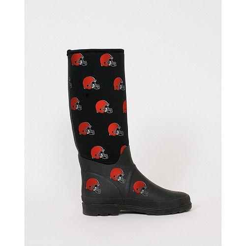 6fa0bff2 Cuce Shoes Cleveland Browns Women's Enthusiast Rain Boot - NFLShop ...
