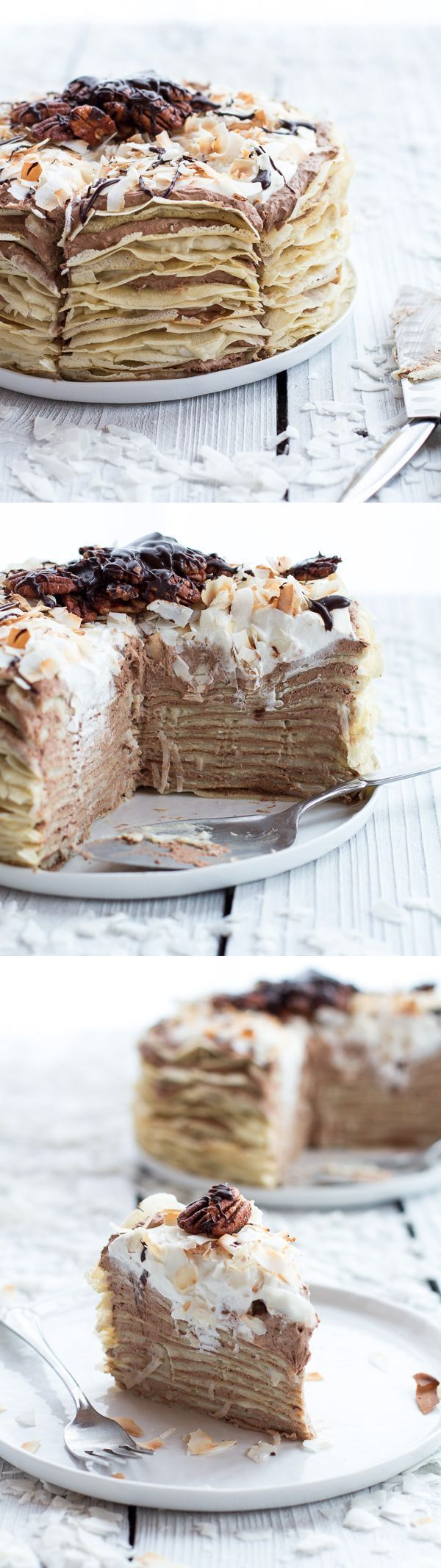 Chocolate Mousse Rum Crepe Cake Recipe Layers Pancakes