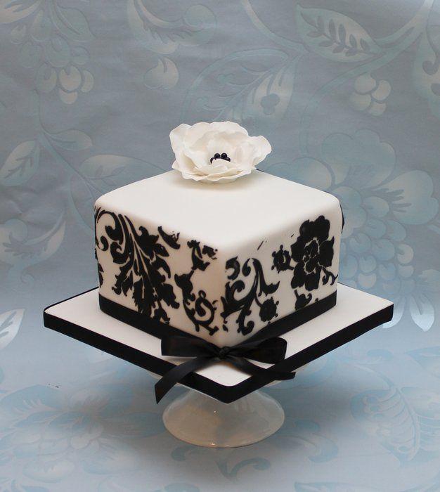 Black And White Cake Mini Wedding Cakes White Birthday Cakes