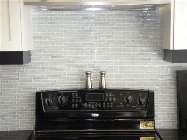 White Glass Backsplash Would Be Nice Mixed With Some White Subway Tile Glass Tile Backsplash Kitchen Glass Backsplash Glass Backsplash Kitchen