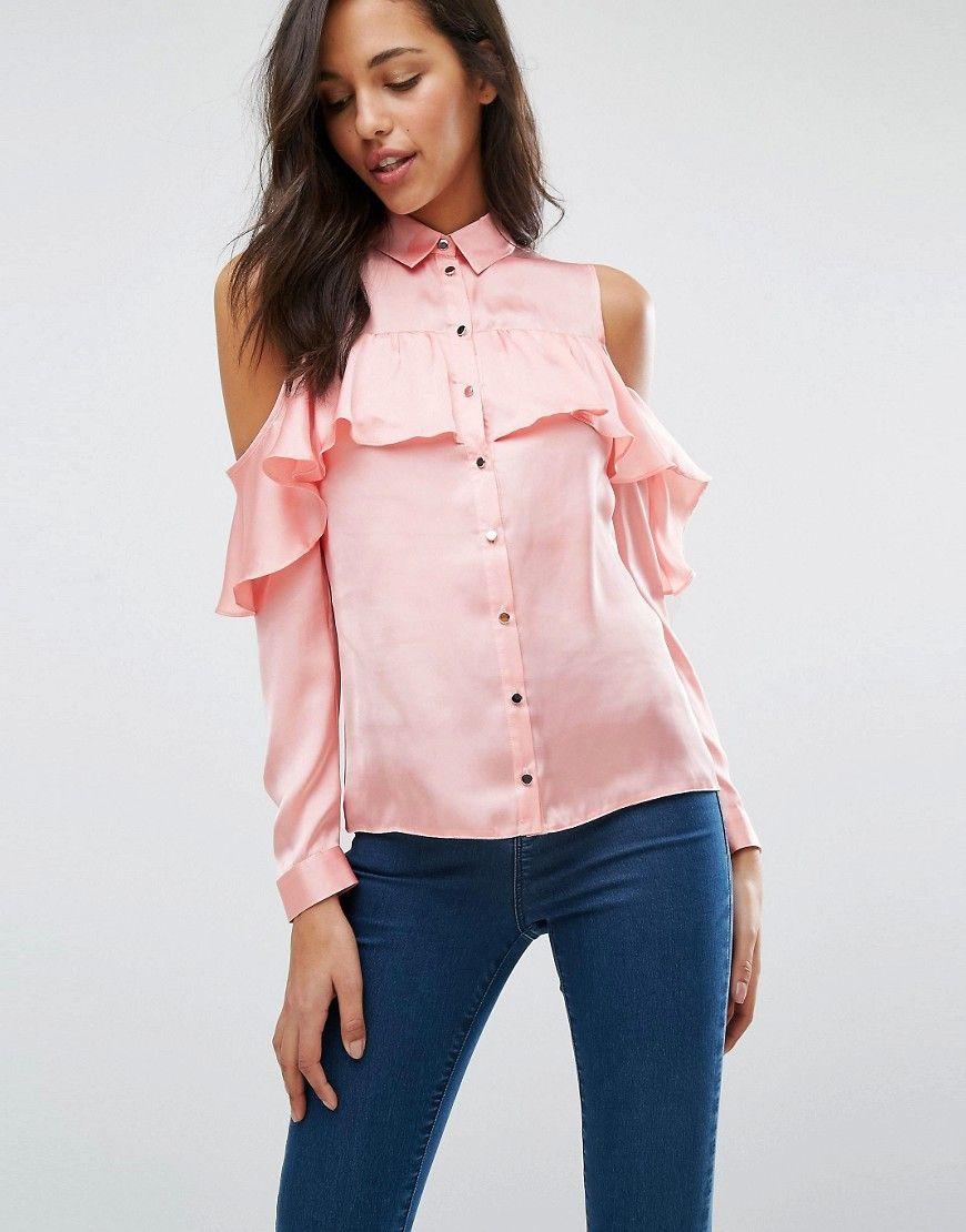 Compra Top hombros descubiertos de mujer color rosa de Miss selfridge al  mejor precio. Compara precios de tops de tiendas online como Asos - Wossel  España