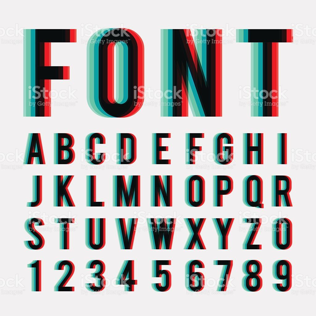 Font Stereoscopic 3d Effect In Vector Format Graphic Design Fonts Lettering Alphabet Best Free Handwritten Fonts
