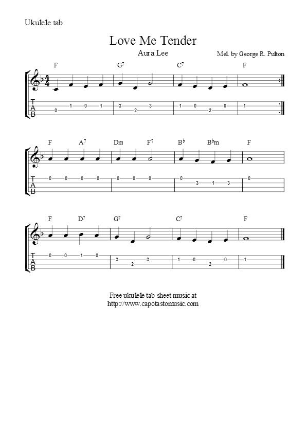 Love Me Tender | Ukulele Songs | Pinterest | Ukulele songs, Music ...