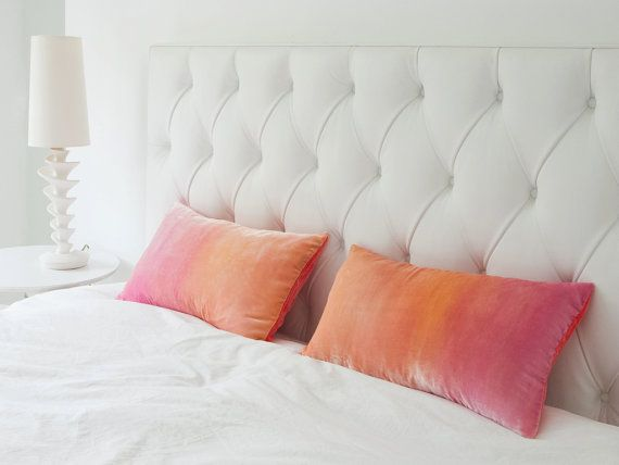 Soft Peach And Pale Pink Ombre Velvet Pillow 12 X 20 By Fiona Pitkin Of Colorbloom Http Www Fionapitkin Co Uk
