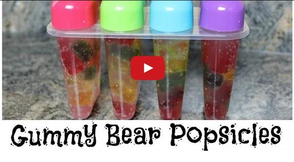 How To Make Gummy Bear Popsicles - http://www.diysnacks.com/make-gummy-bear-popsicles/ - #Food, #Fun, #Kids