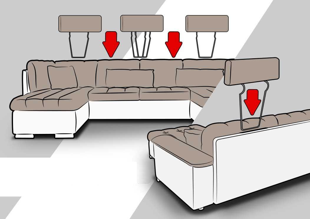 Canape D Angle Convertible En U Altan Chloe Design Decoration Maison Canape
