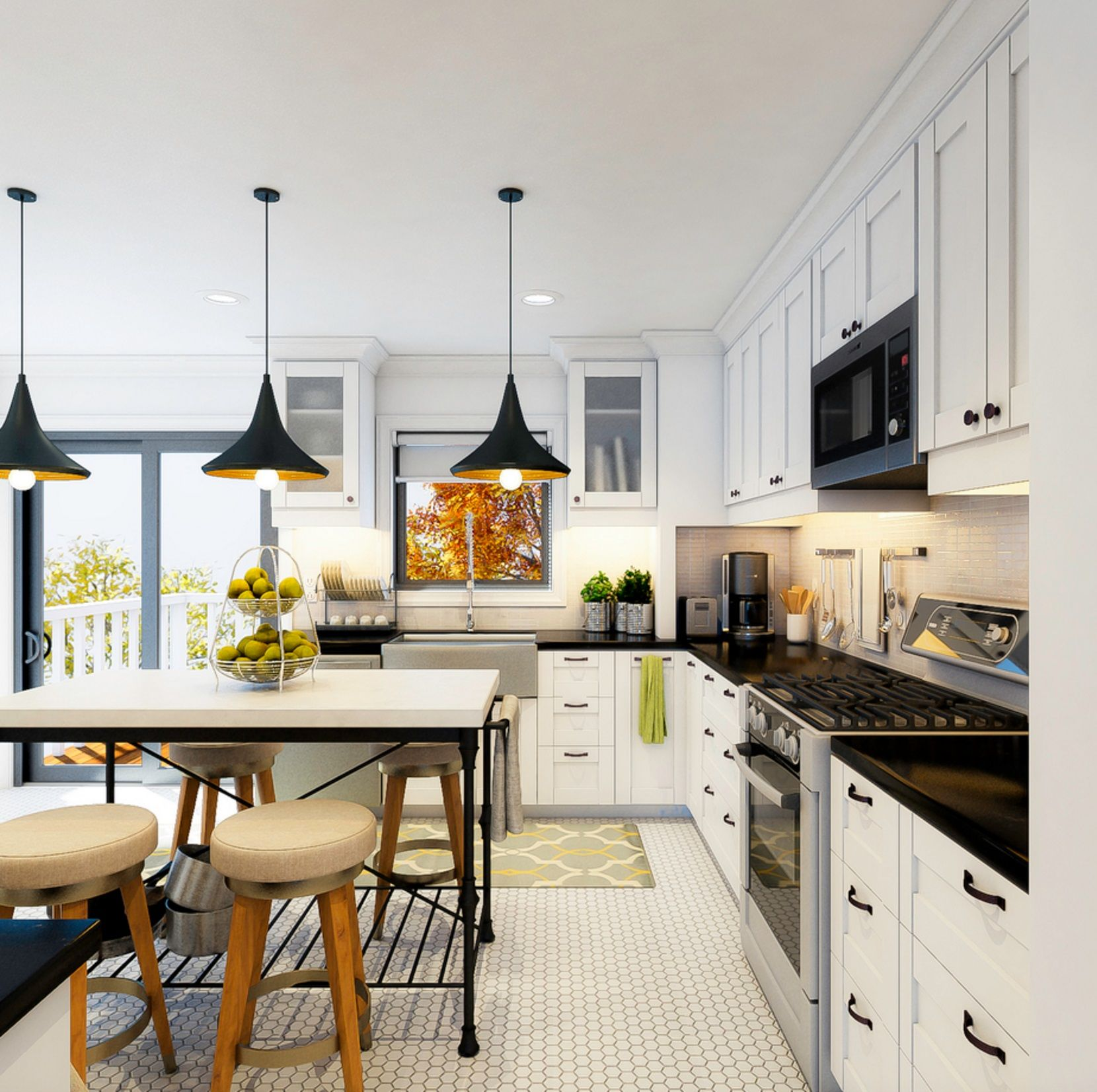 Vorher und nachher Online Interior Designer Küche