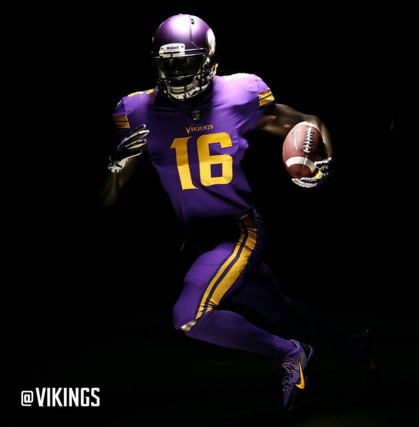official photos e38df 98855 Go Vikes - Stefon Diggs | Power to the Pigskin | Nfl color ...