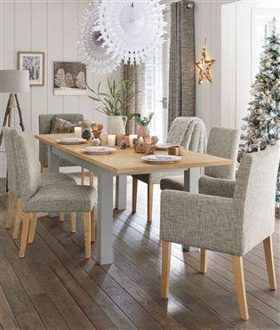 Buy Malvern Grey 6 10 Seater Double Extending Dining Table From The Next UK Online
