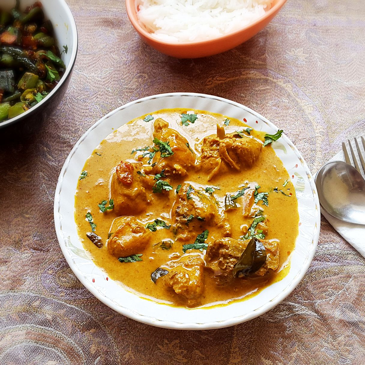 Chicken Coconut Curry Recipe Chicken With Coconut Milk And Spices My Indian Taste Coconut Curry Recipes Curry Recipes Curry Chicken Recipes