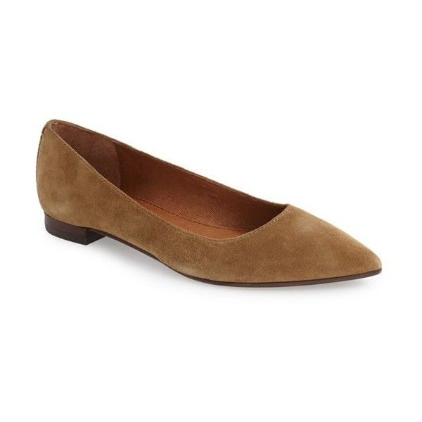 Frye Suede Pointed-Toe Flats clearance footlocker sale finishline buy cheap view excellent 0kAkRo8H