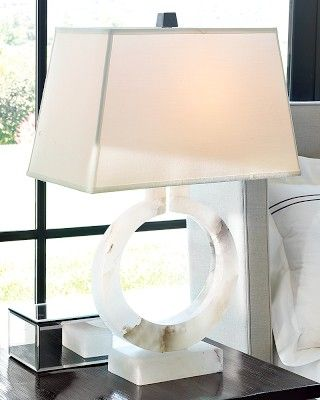 Madison Alabaster Lamp #williamssonoma