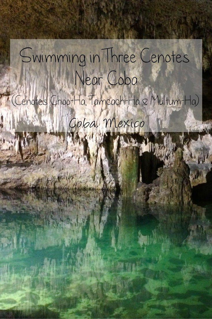 Swimming in Three Cenotes Near the Coba Mayan Ruins ...