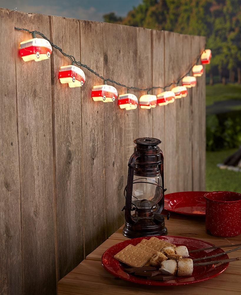 Trendy Camper Camping Trailer String Light Set Outdoor Party Lights 102 L is part of  - 4 H  Overall, 102 L  Polypropylene   Jazz up your outdoor space  Get multiples and connect them together  Details  ULListed  102 L, overall  Polypropylene  Free Shipping
