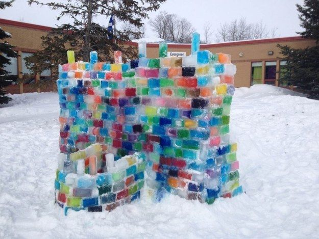 The closest to a castle you have and will ever come.   24 Pictures That Will Give You Intense Canadian Elementary School...