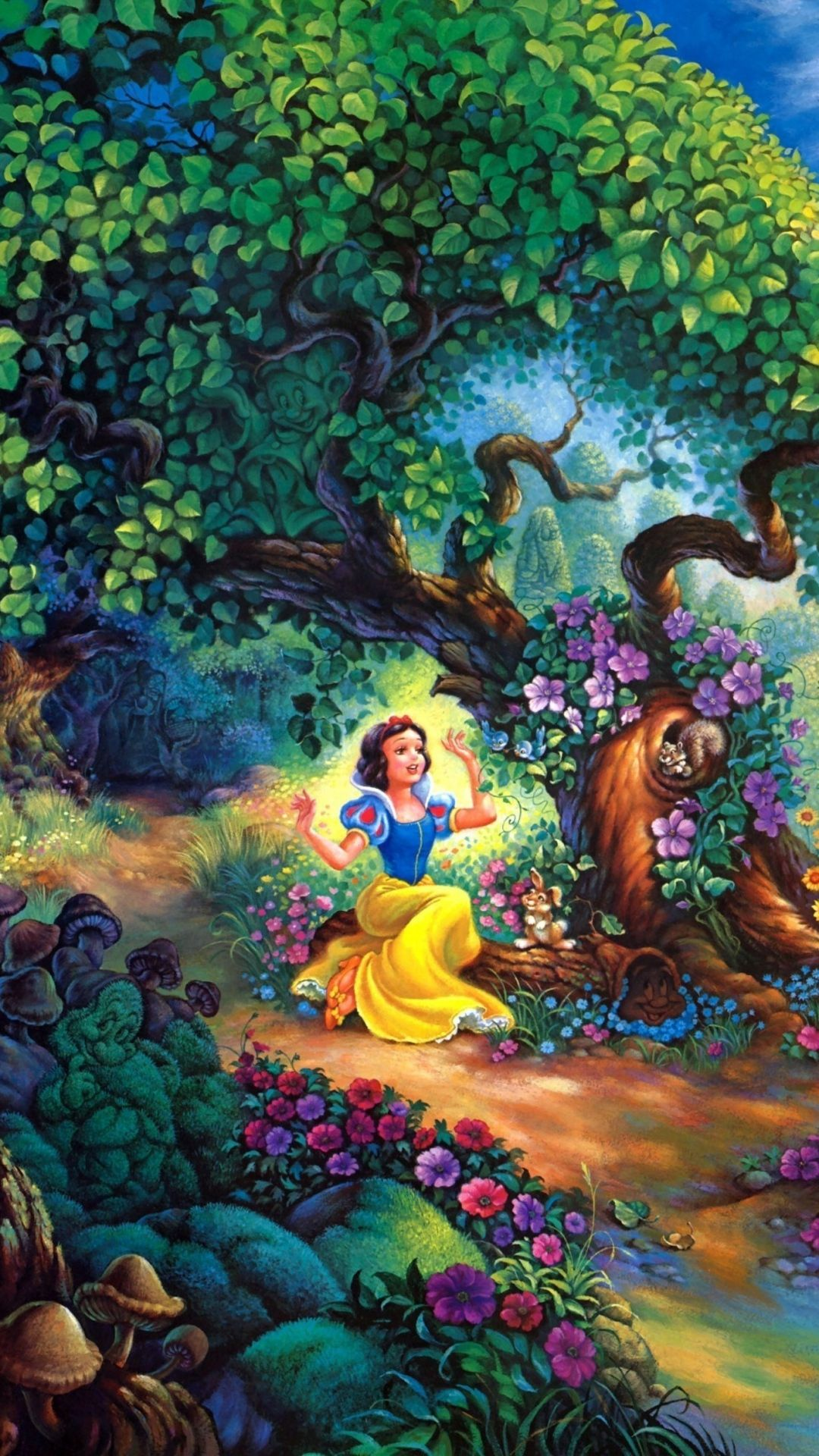 Tap And Get The Free App Art Cartoons Solorful Disney Snow White Forest Tree Flowers Snow White Wallpaper Disney Wallpaper Wallpaper Iphone Disney Princess