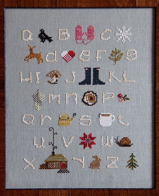Winter ABC | Crafts | Pinterest | Cross stitch samplers, Framing ...