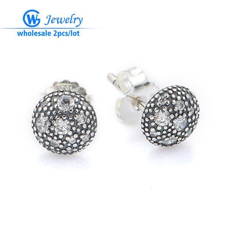 2ps /lot aros de plata 925 earrings brinco argola pendientes aros factory wholesale gemstone er109