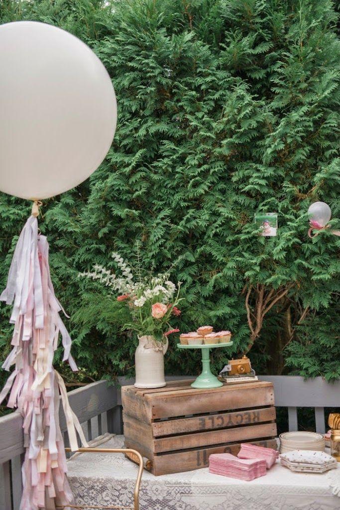 Liv Turns ONE Vintage garden parties Vintage gardening and