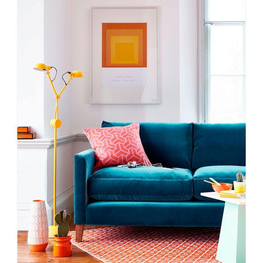Velvet Sofas Our Pick Of Best Ideal Home Teal Sofa Living Room Sofa Decor Teal Sofa