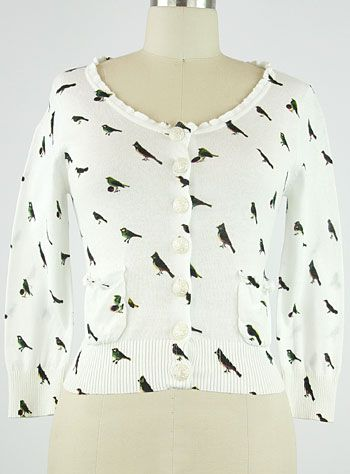 For the Birds Cardigan   PLASTICLAND