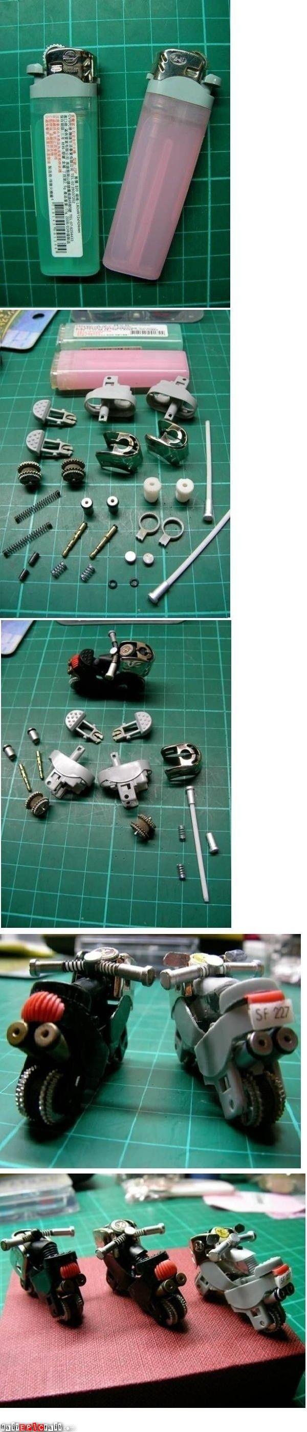 amazing repurpose aus Feuerzeug Motorrad machen | crafts | Pinterest ...