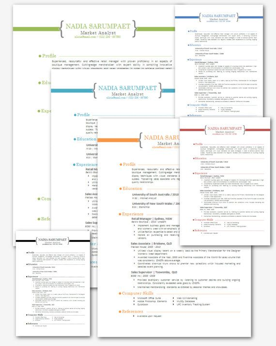 Modern Microsoft Word Resume Template Nadia by Inkpower on Etsy - how to get resume templates on microsoft word