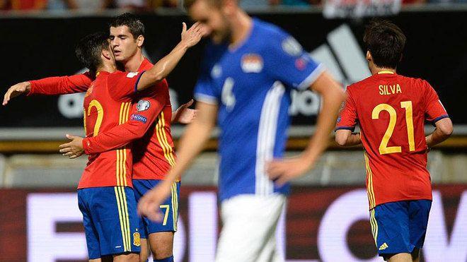 "Selección de España: Morata: ""Me hubiese gustado llevarme el balón a casa"" | Marca.com"
