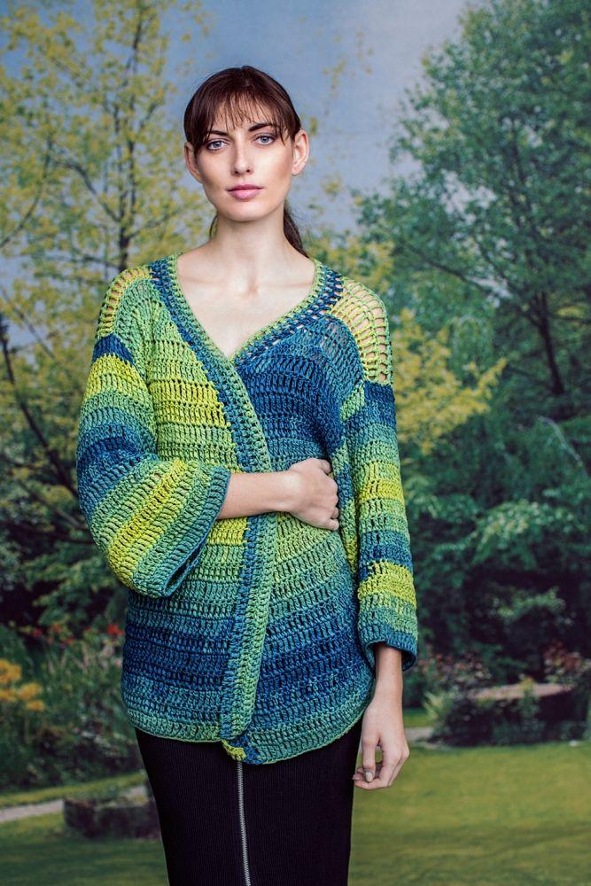 Kostenlose Anleitung: Kimono-Jacke - Initiative Handarbeit | Horgolt ...