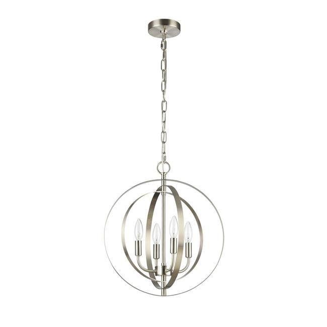 Shop online for CHLOE Lighting OSBERT Industrial-style 4 Light Brushed Nickel Ceiling Pendant 16