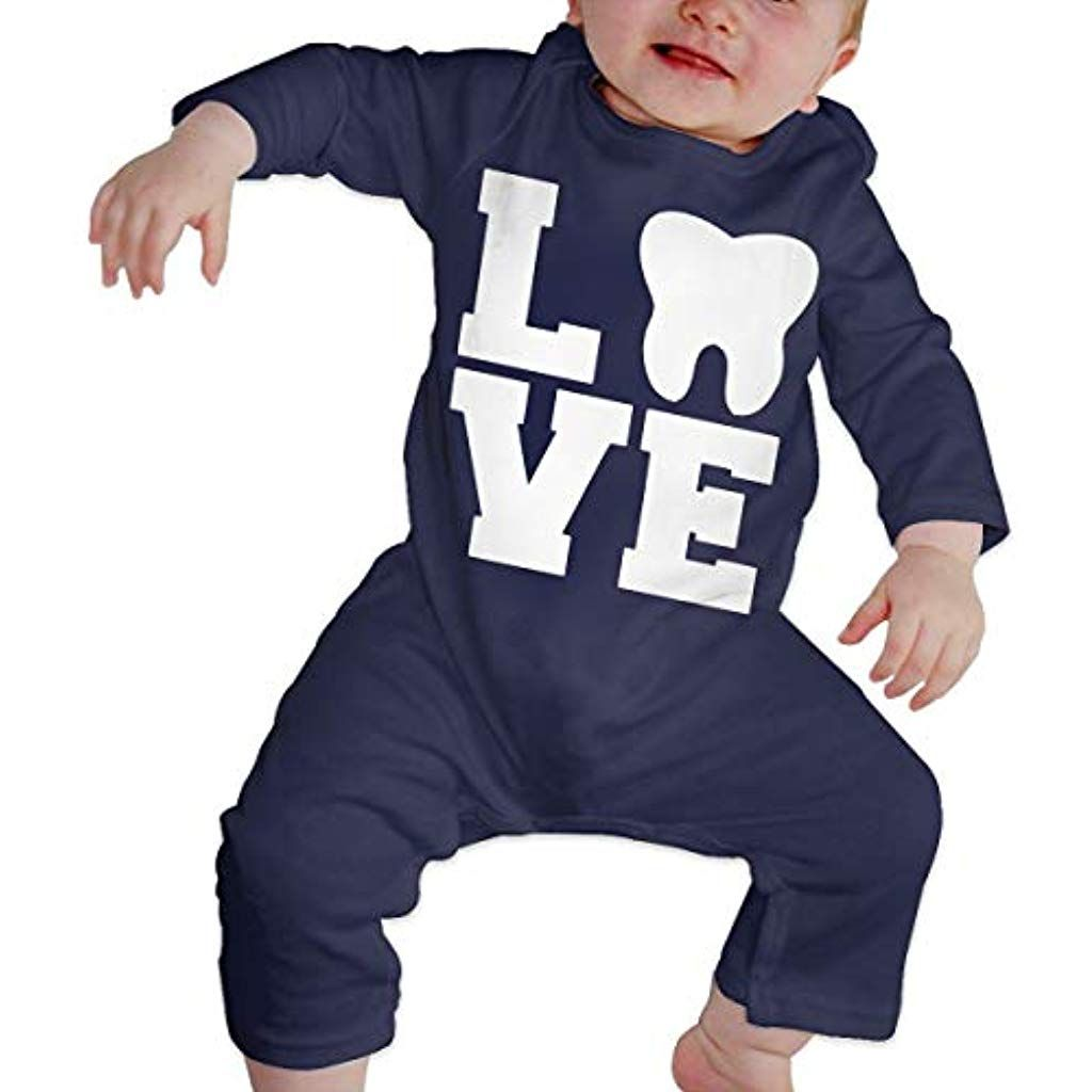I Love Pizza Newborn Baby Boy Girl Romper Jumpsuit Long Sleeve Bodysuit Overalls Outfits Clothes