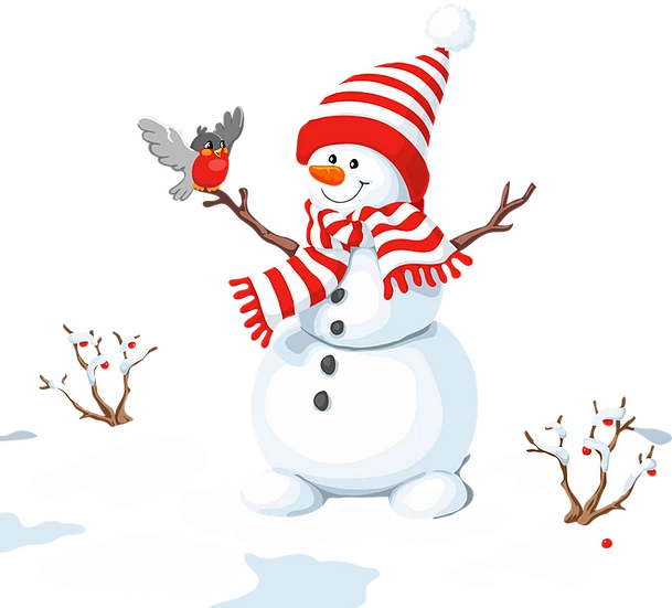Happy Snowman With Bird Free Png Images Free Digital Image Download Upcrafts Design Christmas Drawing Snowman Bird Free