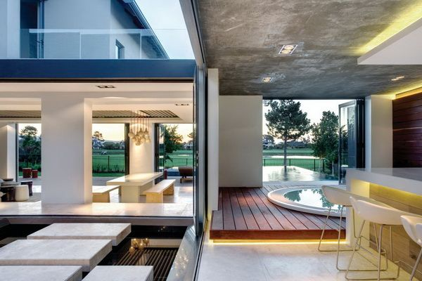 Indoor Outdoor Luxury At A Cape Town Contemporary Golf Course Home