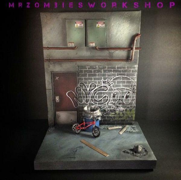1 12 Scale Urban Diorama Marvel Legends Custom Diorama Playset City Diorama Scene Design Diarama Ideas