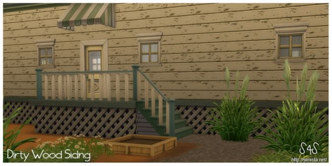Dirty Wood Siding by bec at Simista • Sims 4 Updates
