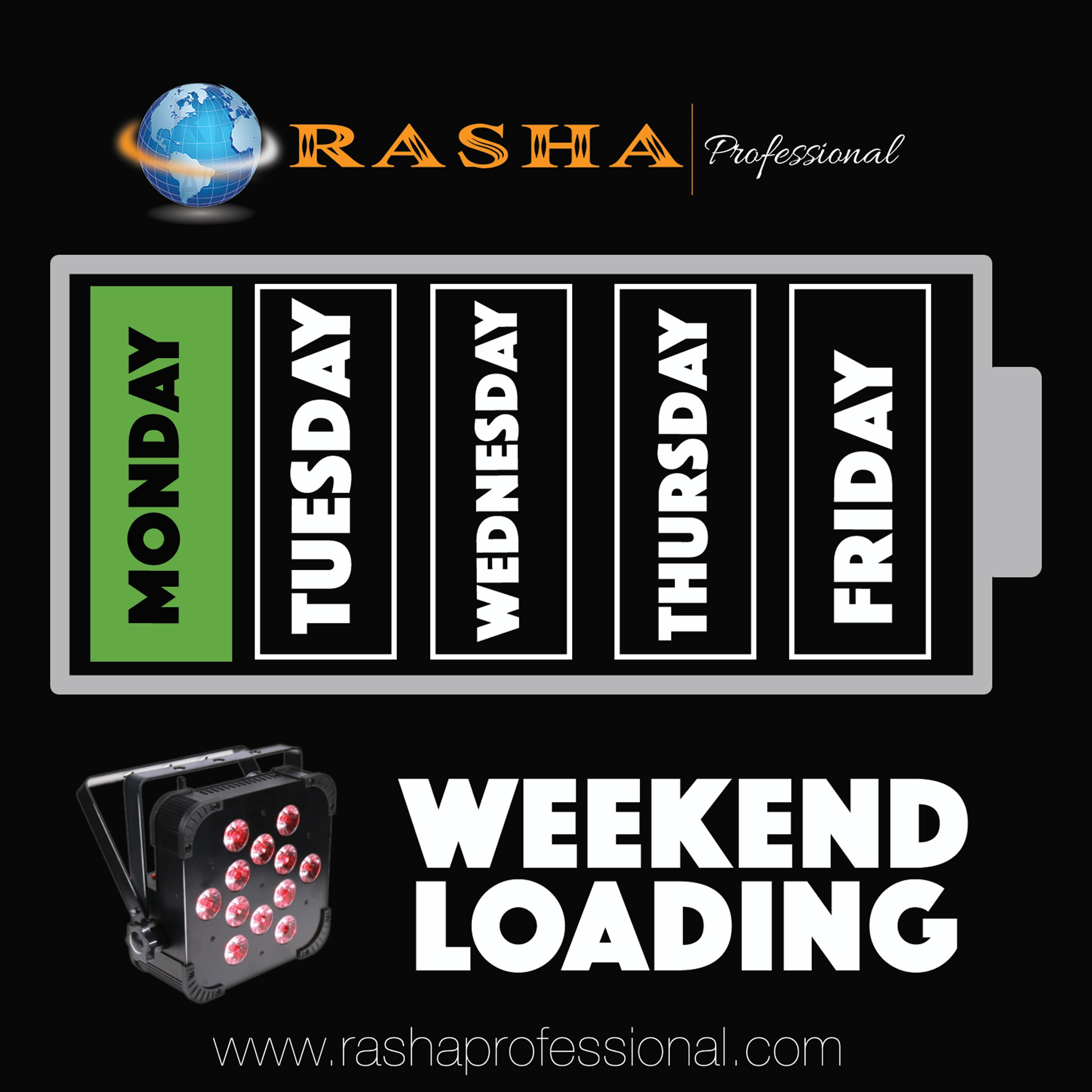 Weekend Reload  http://www.rashaprofessional.com  (951)654-3585  #rashaprofessional #rasha #light #color #RGBA #stage #namm #proud #member #lighting #events #lights #concerts #theater #letslightupyourworld #led #uplights #dj #party #clubs #architecture #landscape #music  #wedding