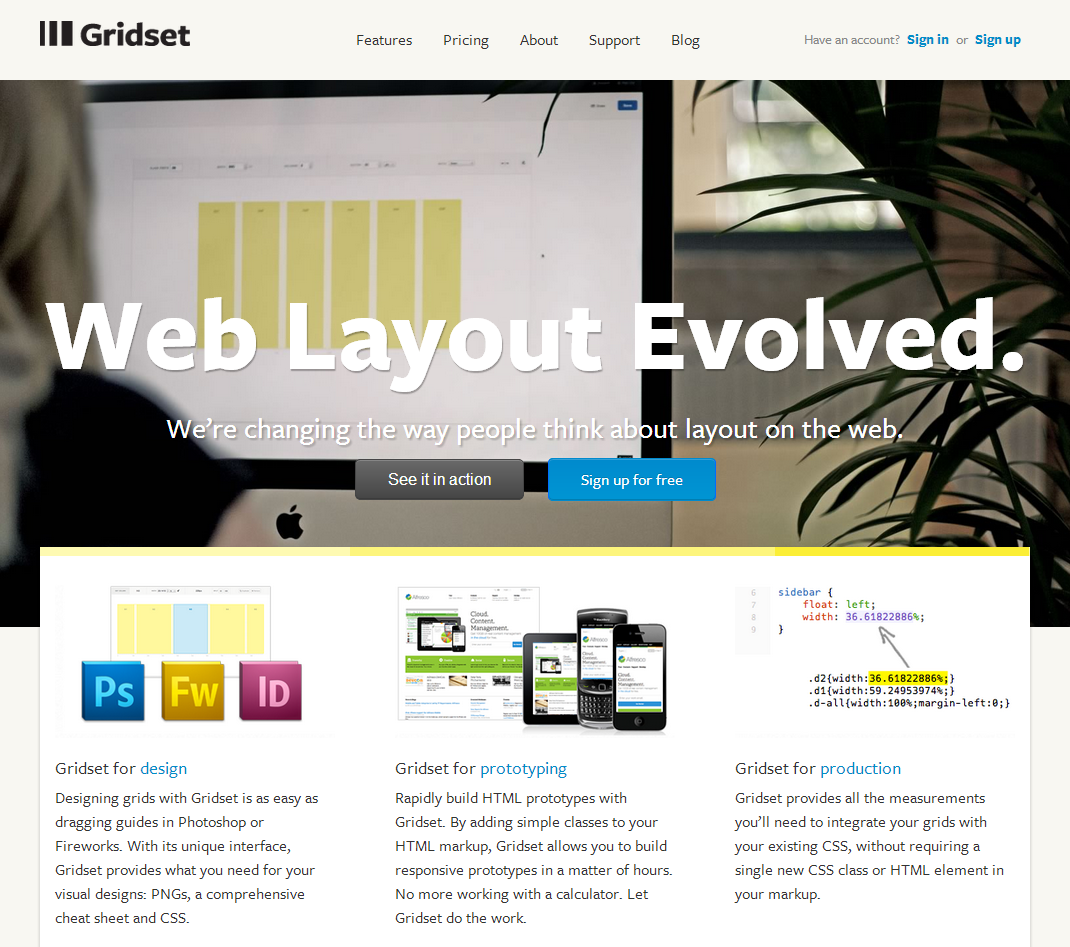 Gridset About Us Gridset Is A Tool For Making Grids Designed And Built By The Team At Mark Boulton Design Page Design