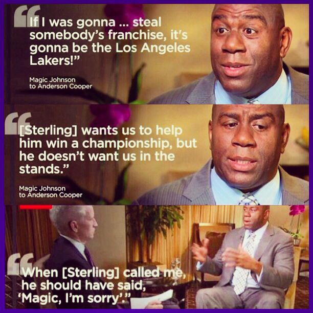 Pin By Melissa Alba On Lakeshow Donald Sterling Magic Johnson Lakers